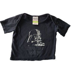 """🍒3/$20🍒 DRY GOODS Black """"Who's Your Daddy?"""" Tee 6-12 mo"""